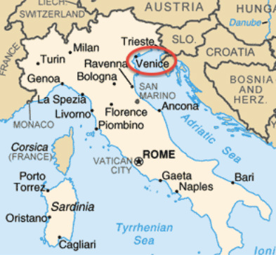 Location Venice - Which continent is austria located